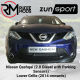 Zunsport compatible with Nissan Qashqai (2.0 Diesel with Parking Sensors) - Lower Grille (2014 onwards)