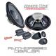 """Ground Zero Radioactive GZRC 200NEO-IV 8"""" 20cm 2 way car component slim speakers"""